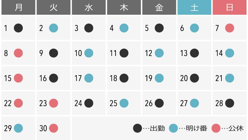 出勤カレンダー